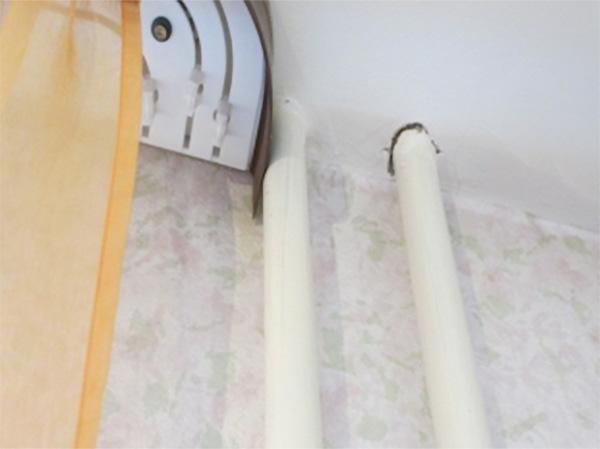 Гильзы на трубах в местах прохода через перекрытия не установлены