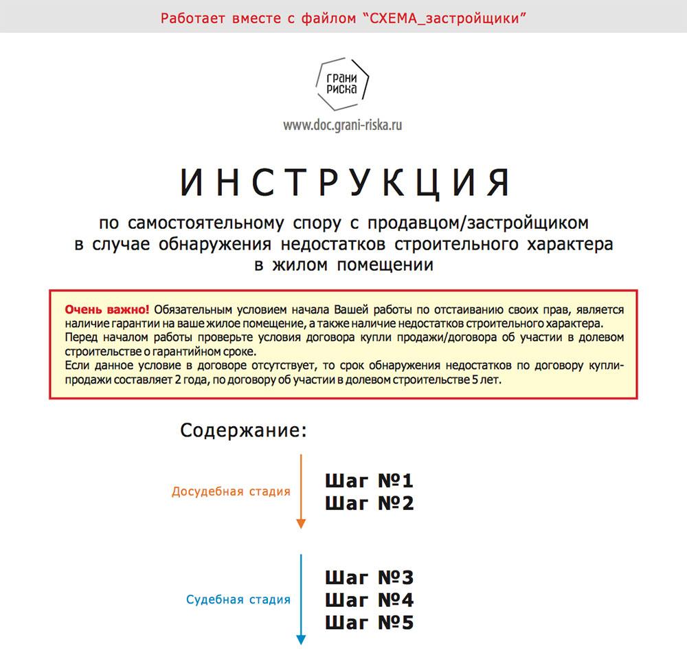 Инструкция по спору с застройщиком
